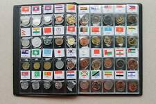 60 Pcs Coins From 60 Country Or Area With Album As Christmas Gift For Children