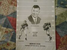 1954 MICHIGAN STATE SPARTANS FOOTBALL MEDIA GUIDE Yearbook College MSU Book AD