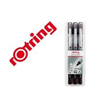 Rotring Tikky Graphic Technical Drawing Pens set with 3 PENS - 0.2 - 0.4 - 0.8