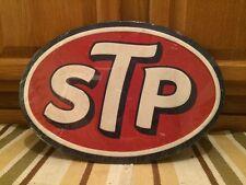 Embossed STP Pump Petroleum Motor Oil Texaco Sinclair Mobil Can Racing Man Wall