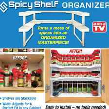 AS SEEN ON TV   Spicy Shelf Stackable Spice Rack Organizer Holds Upto 64 Spices