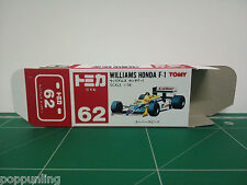 REPRODUCTION BOX for Tomica Red Box No.62 Williams Honda F-1