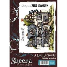 A Little Bit Sketchy SPOOKY MANSION A6 Rubber Stamp By Sheena Douglass