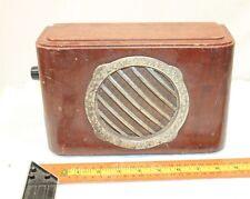 VINTAGE WOODEN WIRED BROADCAST RADIO SPEAKER 1950's USSR SOVIET ERA