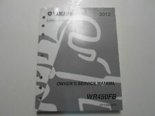 2012 Yamaha WR450FB WR 450 FB Owners Service Repair Shop Manual FACTORY OEM 12 x