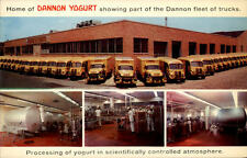 Long Island New York ~1960 Processing Yogurt Dannon Milk Factory Fabrik Trucks