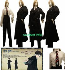 Ao no Blue Exorcist Yukio Okumura cosplay costume Coat Shirt Pants Tie Any size