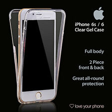 iPhone 6 / 6s Case - Clear Gel, Front & Back, Full Body - All Round Protection