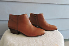 Women's Sam Edelman Petty Ankle Boots Brown Leather Size 8.5