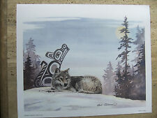 "Sue Coleman, ""Wolf"" - Canadian First Nations Inspired Art Print"