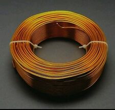 Shiny orange/gold ALUMINIUM JEWELLERY CRAFT WIRE   1mm, 10 m, FAST SHIPPING
