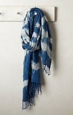 NIP Anthropologie HONEST ALCHEMY Pozo Scarf Wrap Cotton USA Indigo Shibori