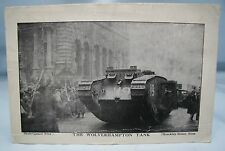 THE WOLVERHAMPTON TANK WW1 HOME FRONT FUNDRAISING POSTCARD WWI SOUTH STAFFS*