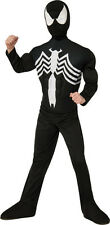 Kids Black Spider-Man Venom Deluxe Costume Marvel Superhero Size Medium 8-10