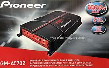 NEW Pioneer GM-A5702 2-Channel A Series Bridgeable Class AB Car Audio Amplifier