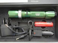 On Sale 800 LM 50W LED rechargable Torch Zoomable flashlight 18650+charger G60