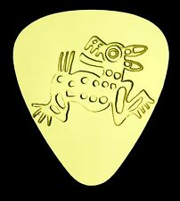 AZTEC DOG - Solid Brass Guitar Pick, Acoustic, Electric, Bass