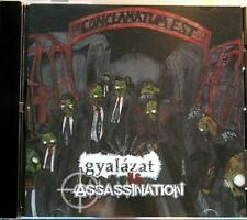GYALAZATvs  ASSASINATION Split Dibbuk / Alarma Records 2009 16 track CD