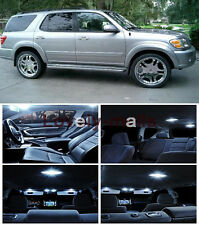 15pcs Interior Lights Package White LED deal fit Toyota Sequoia 2001 2003