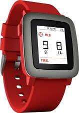Pebble Time Smartwatch 38mm Silicone Band - PBTM-RED