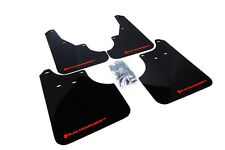 Rally Armor Mud Flaps Guards for 09-13 Subaru Forester (Black w/Red Logo)