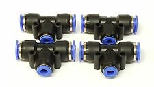 x 4 NEW 3/8 1/4 3/8 TEE Fittings Push On Air Ride tank bags bagged push connect
