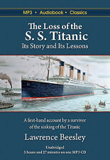 The Loss of the S. S. Titanic - Unabridged MP3 CD Audiobook in DVD case