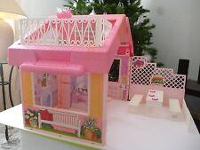 ☺ Jouet Maison De Poupée Pliable Valisette Barbie Vintage Authentique Année 1992