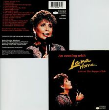 LENA HORNE  an evening with ..  LIVE AT THE SUPPER CLUB, NYC 1994