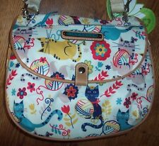 NWT Lily Bloom FURRY FRIENDS CATS Quinn Shoulder Bag Purse Eco Recycled Bottles
