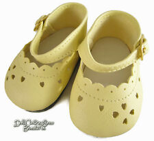 Yellow Dress Shoes for Bitty Baby + Twins Doll Clothes Accessories
