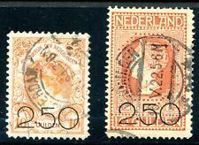 NIEDERLANDE 1920 99-100 gest GULDENWERTE 280€(E1171