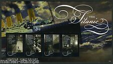 NEVIS  2013 100th ANNIVERSARY TITANIC SINKING SHEET OF FOUR  MINT NH