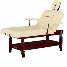 "Master Massage 31"" SpaMaster Stationary Spa Salon Table Cream Minor Defective"