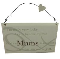 Best Mum in the world plaque - Great gift for MUM Birthday / Christmas present