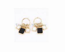 Stilvolle Bettel Ohrringe Ohrstecker Ohrhänger  Fashion Ohrschmuck Schwarz Weiß