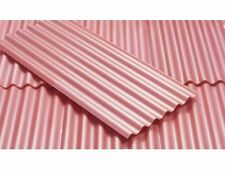 JUWEELA 1:32 30x BRICK RED CORRUGATED ROOFING SHEETS 23268 MILITARY WARGAMING