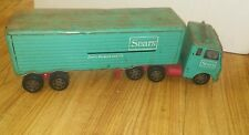 Vintage Sears,Roebuck & Co. Turquoise Toy Semi Truck & Trailer