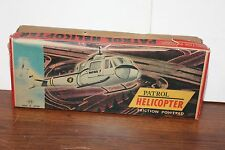 NICE T.T. FRICTION POWERED PATROL HELICOPTER ORIGINAL BOX ONLY
