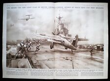 FAIREY BARRACUDA HMS COLOSSUS AIRCRAFT CARRIER C. E. CHARLES TURNER PRINT 1945