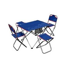 Portable Camping Folding Chairs Table Set 5 Piece Dining Durable Outdoor Beach