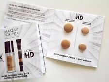 LOT 2 Make Up For Ever Ultra HD Invisible Cover Foundation & Concealer Sampler