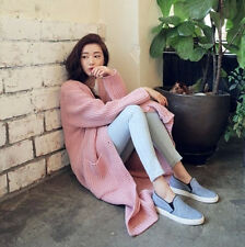 Loose Long Section Korean Women Fashion Cardigan Casual Sweater Knitted Coat New
