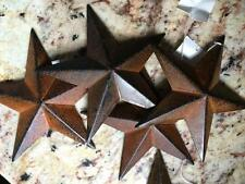 "(Set of 2 ) RUSTY BLACK BARN STARS 5.5"" PRIMITIVE RUSTIC COUNTRY DECOR ANTIQUE"