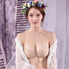 Backless Self Adhesive Strapless Stick Gel Silicone Invisible Magic Push Up Bra