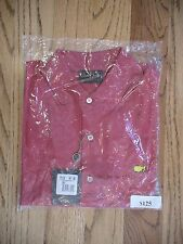 MASTERS GOLF AUGUSTA NATIONAL BOBBY JONES MEDIUM RED MENS SHIRT POLO NEW PGA