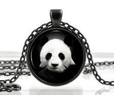 Panda Bear Necklace Jewelry - Black and White Animal Pendant - Gifts for Women