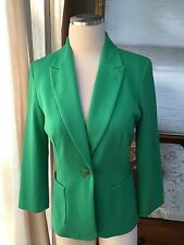 Jules & And Leopold Kelly Green Ponte Blazer Jacket 2 Excellent