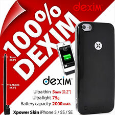 New Dexim Xpower Skin for iPhone 5 5S SE 2000mAh Rechargable Battery Case Cover
