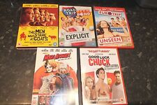 5 DVD's Mars Attack, Road Trip, Euro Trip,Men Who Stare At goats,Good Luck Chuck